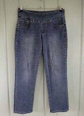 Jag Jeans Womens 12 Short Straight Leg Pull On Stretch Denim High Rise 33x29