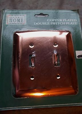 Northwest Switchplate - Polished COPPER Plated DOUBLE Toggle Switch Wall Plate Cover NORTHWEST HOME NIP
