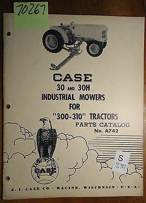 Ih Case 30 30h Industrial Mower 300 310 Tractor Parts Catalog Manual A742 1256