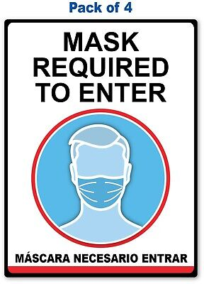 4 - Social Distancing Sticker English Spanish - Sign 19 Covid Virus Business