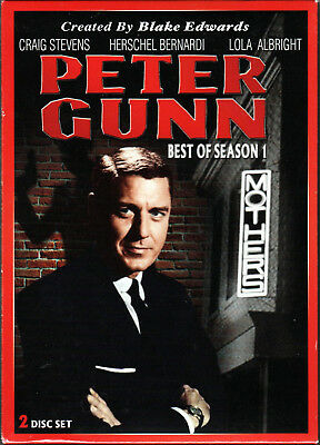 PETER GUNN The BEST OF SEASON 1 FIRST on 2 DVD Movie CRIME Gun DETECTIVE TV