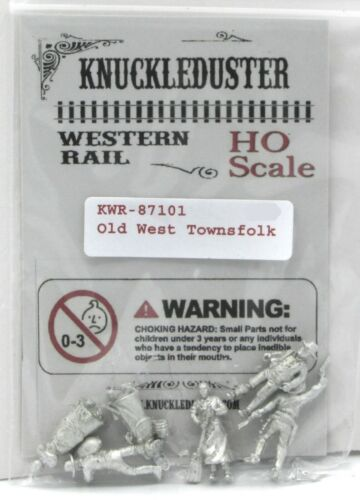 Knuckleduster KWR-87101 Old West Townsfolk (HO  Scale) Western Rail Civilians