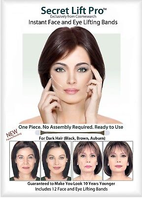 Secret Lift Pro - Face and Eye Lift (Dark Hair) Facelift Tapes and Bands