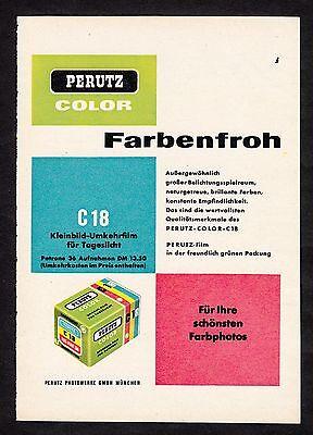 3w1693/ Alte Reklame von 1960 - Farbfilm PERUTZ Color - Perutz Werke München