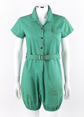 Vtg NATIONAL SPORTS EQUIPMENT CO c.1940s - 1950s Belted Romper Gym Suit Playsuit for sale  Shipping to South Africa