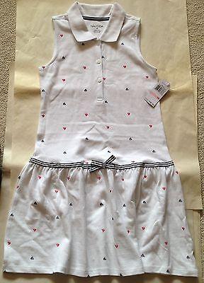NWT NAUTICA GIRLS WHITE COTTON DRESS SIZE 10 $36.50