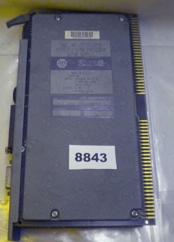 (8843) Allen Bradley Processor Mini Plc 2/02 W P Supply 1772-l2p