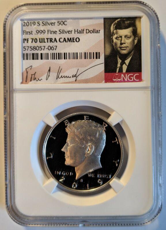 2019 S Proof Silver Kennedy Half Dollar 50C First .999 Fine Silver NGC PF 70 UC