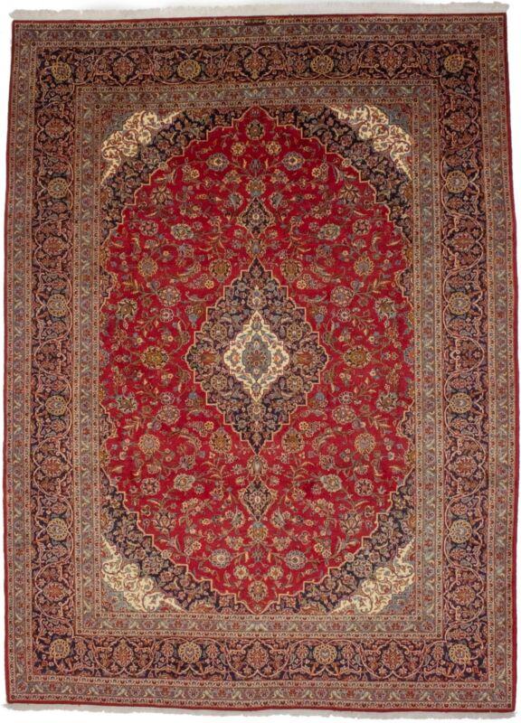 Vintage Handmade Floral Design 10X13 Signed Oriental Area Rug Home Decor Carpet