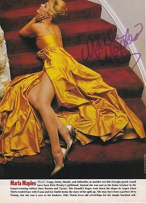 Authentic Marla Maples (Trump) signature autograph Fashion Magazine Page 1990's