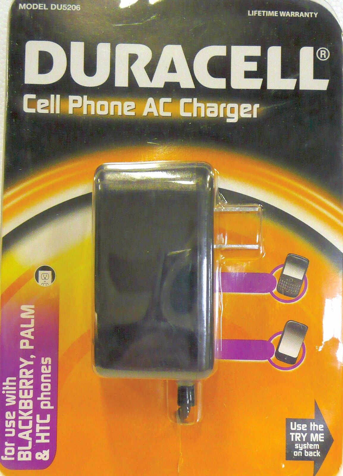 Duracell Du5206 Cell Phone Ac Charger Brand Ie517 Blackberry Palm Sealed