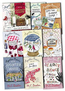 Agatha Raisin Collection M C Beaton 10 Books Set Pack