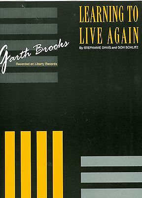 Garth Brooks Sheet Music Learning To Live Again Mint Condition