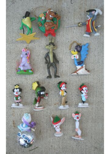 13 Cartoon Warner Bro Characters PVC Ornament Road Runner Pinky Animaniacs