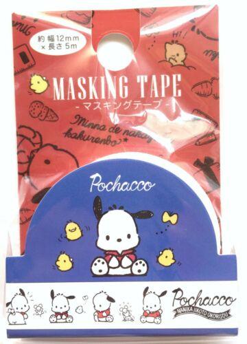 Lovely Cute Kawaii Sanrio Character Pochacco Masking Tape Dog Kids Gift FS JAPAN