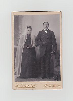 Kabinettfoto Hochzeit Brautpaar  Photograph Joh. Averhoff Barmstedt
