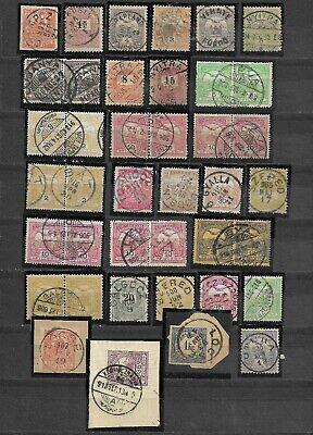 Slovakia, Slovakian postmarks on Hungarian stamps