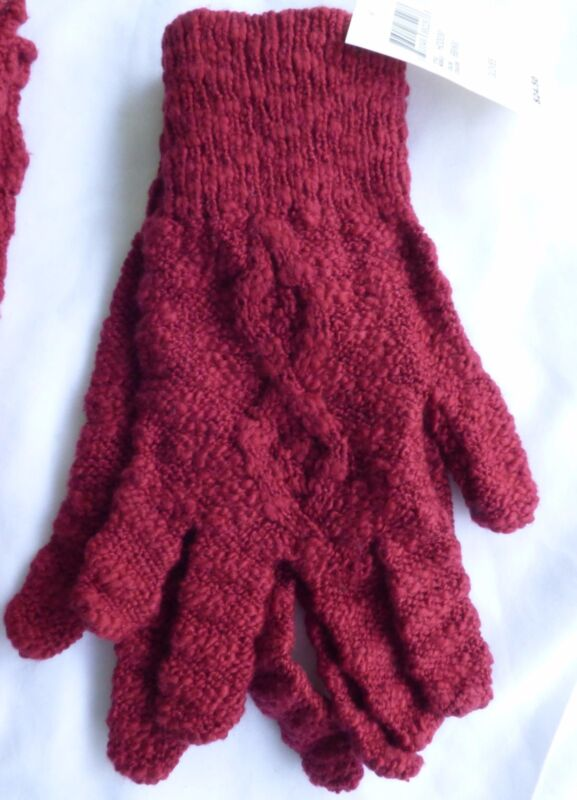 Lucky Brand Womens Gloves One Size  RED  New with Tags Cable Knit Lucky Quality