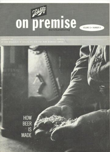 VINTAGE 1962 SCHLITZ BEER MAGAZINE!