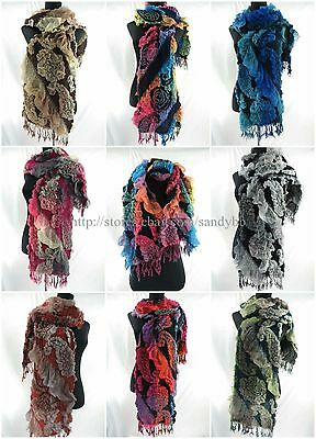 US SELLER-12pcs wholesale fashions rose paisley 3D warm winter fall scarf