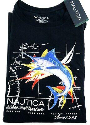 NWT NAUTICA Sailing Swordfish Short Sleeve T-Shirt MEN'S 3XL XXXL Blue Authentic