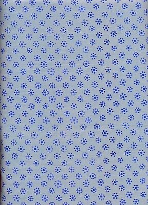 Dot Flowers (Mooshka Blue Dot Flowers Quilt Fabric - Free Shipping - 1)