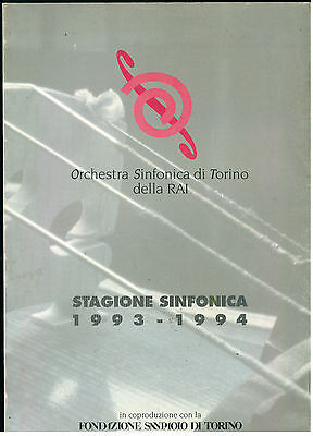 ORCHESTRA SINFONICA DI TORINO DELLA RAI STAGIONE SINFONICA DELLA RAI 1993 1994