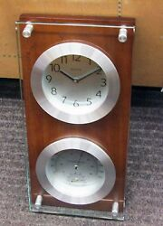 BULOVA  WALL CLOCK MARINER, THERMOMETER, HYGROMETER AND CLOCK C3735