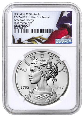 2017-P American Liberty 225th 1 oz Silver Rev Proof Medal NGC GEM Proof SKU52175