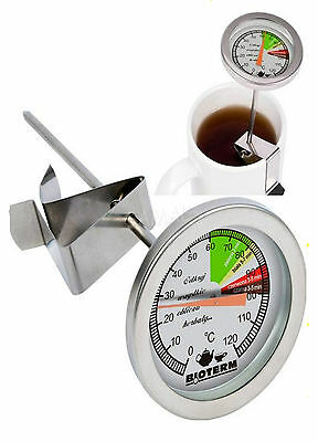 TEETHERMOMETER TEEWASSER TEE  THERMOMETER EDELSTAHL Milchthermometer