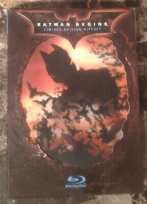 Batman Begins (Blu-ray Disc, 2008, Limited Edition Giftset w/ Slipcover Box)
