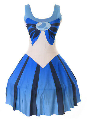 SK-00 Gr. S-M Sailor Moon Neptun blau Kleid dress Cosplay Manga Kostüm Anime