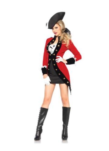 Adult Racy Red Coat Pirate Costume (sh) Size Large