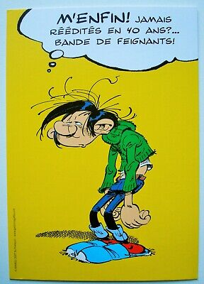 FRANQUIN. - Gaston Lagaffe. - Carte publicitaire journal Le Soir.