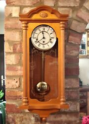 Vintage English 'William Widdop' 8-Day Wall Clock with Westminster Chimes