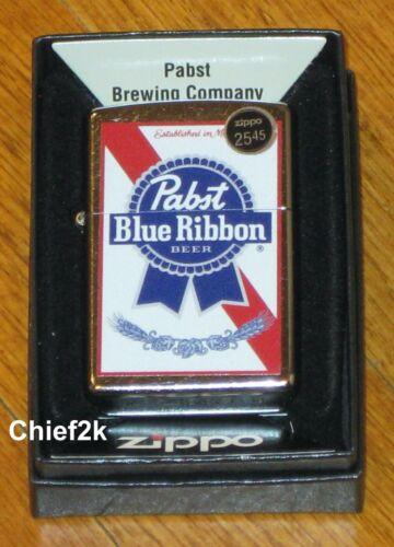 Zippo Lighter Pabst Blue Ribbon Beer 49078 Street Chrome PLUS FREE GIFT