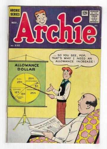 ARCHIE COMICS vol.1 no.132 SILVER AGE SERIES COMIC BOOK Jughead Betty & Veronica
