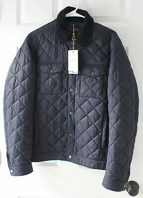 Barbour Men's Quilted Jacket Navy Blue NEW Medium Pardarn