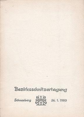 Mappe Bezirksschnitzertagung Schneeberg 1980 mit mehreren Bastelbögen/Abbildunge