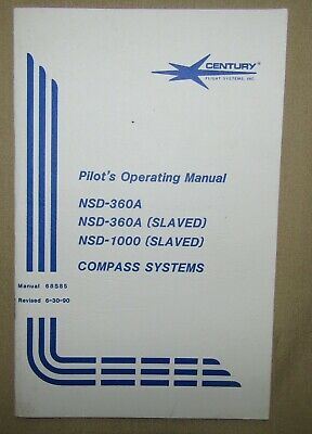 Century Compass Systems Manual NSD-360A & NSA-1000 Manual 68S85