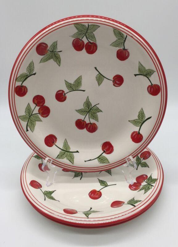 Target Home Set Of Three Dinner Plates ( Cherries)