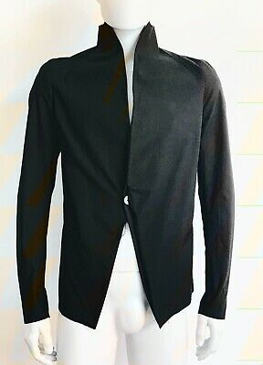 Cedric Jacquemyn SS15 Men's Raw Collar Suit Jacket Size 46 Rick Owens NEW