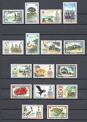 ANGUILLA 1972-75 SG 130/44A USED Cat £55