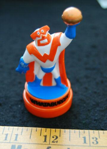 [ Vintage Whataburger Restaurant - Whataguy Super Hero FIGURE / Stamper Toy ]