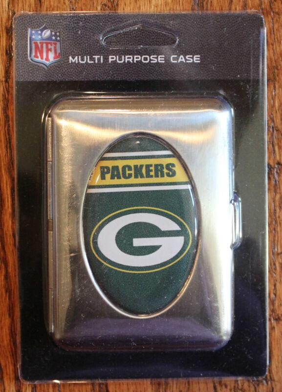 Wallet Silver Green Bay Packers Cigarette Stash Case Metal Football NFL Licensed