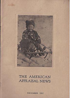 Dec 1927 Issue American Appraisal News Magazine
