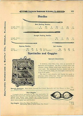 1910 PAPER AD American Spectacle Co Store Display Showcase Eyeglasses (American Eyeglasses Store)