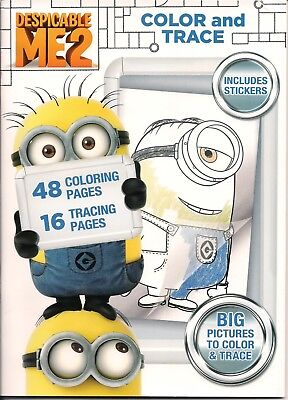 Despicable Me 2 Color and Trace Activity Book with Stickers