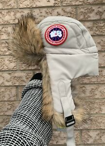CANADA GOOSE Brand New Unisex Aviator Hats Real Coyote Fur