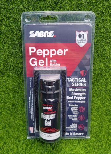 Sabre Red Pepper Gel Spray Repellent Self Defense W/HOLSTER - MK-3-GEL-H-US